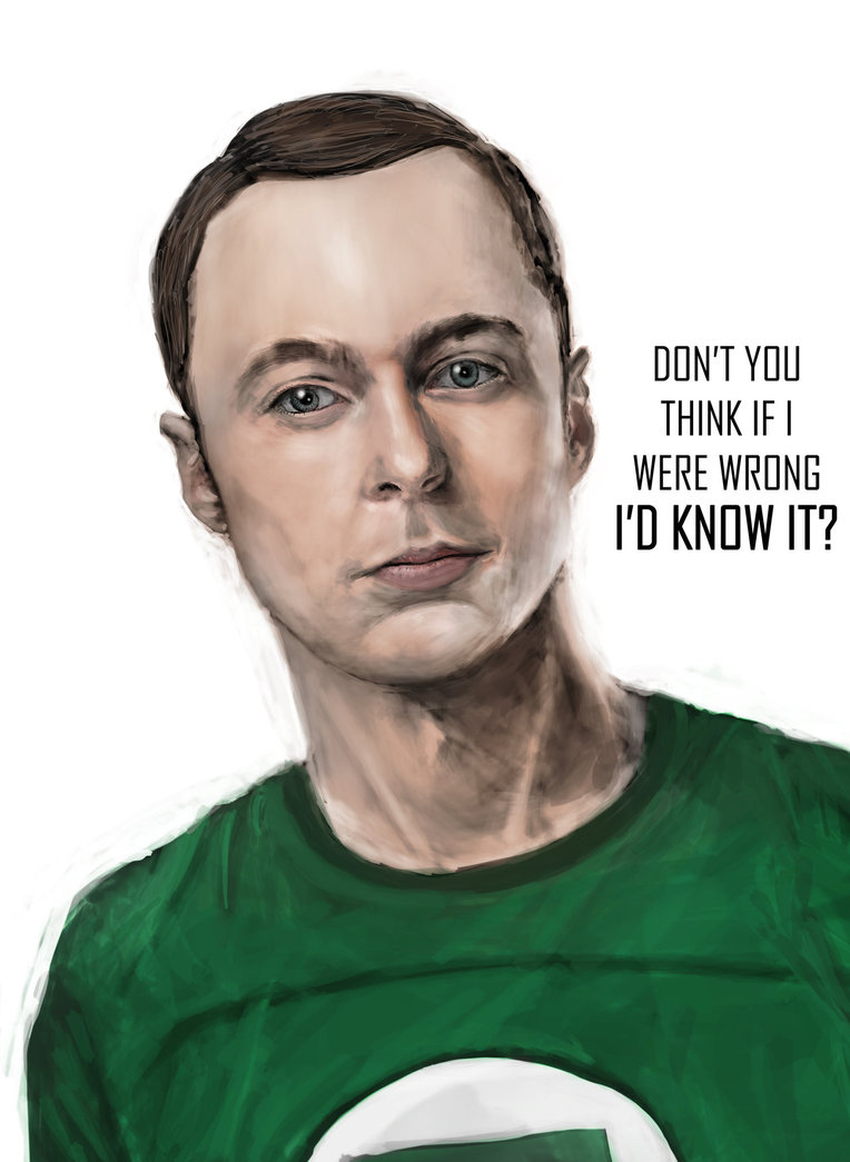 sheldon cooper i'm wrong